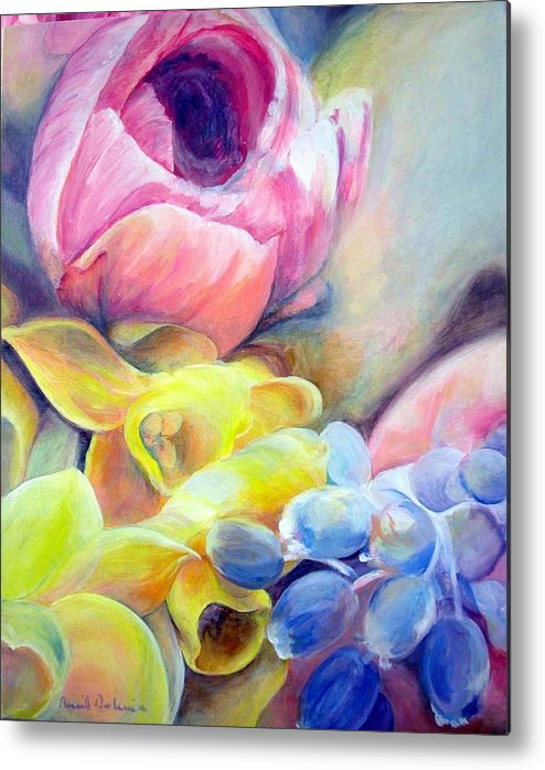 Flower Metal Print featuring the painting Bouquet by Muriel Dolemieux