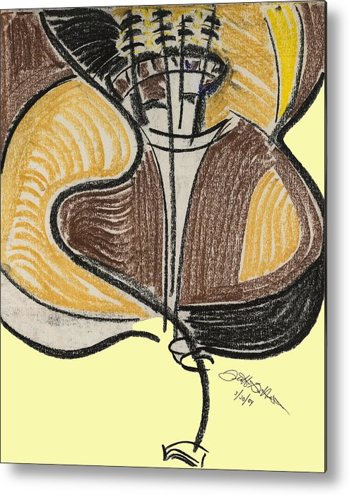 Bass Metal Print featuring the pastel Broken Bass Dyptic 2 by Diallo House