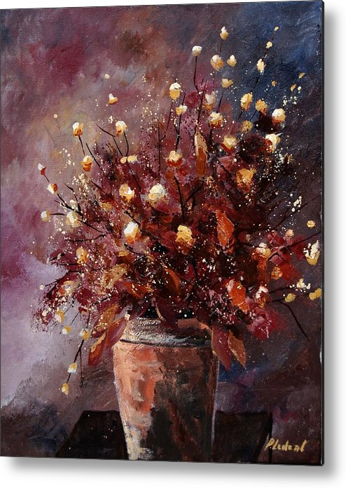 Poppies Metal Print featuring the painting Bunch 56 by Pol Ledent
