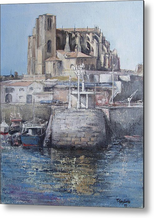 Castro Metal Print featuring the painting Castro Urdiales by Tomas Castano