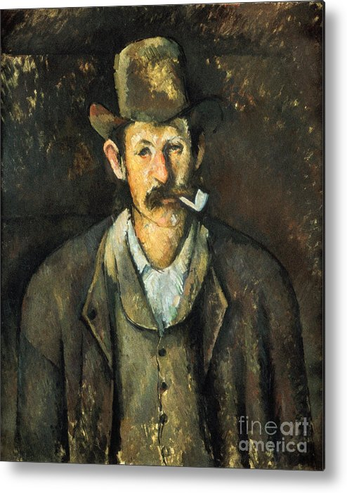 1892 Metal Print featuring the photograph Cezanne: Pipe Smoker, C1892 by Granger