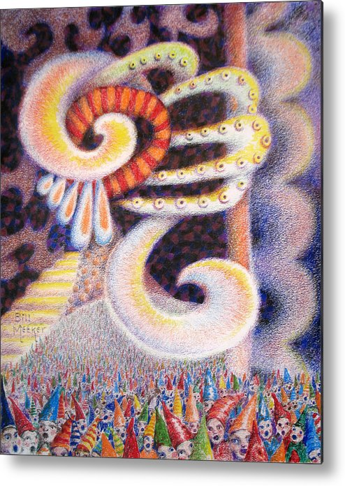 Abstract Metal Print featuring the painting Chaotic Realm by Bill Meeker
