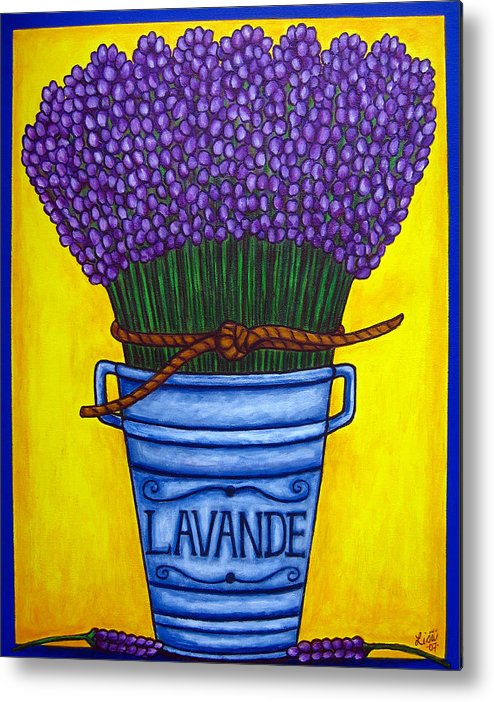 Antique Metal Print featuring the painting Colours Of Provence by Lisa Lorenz