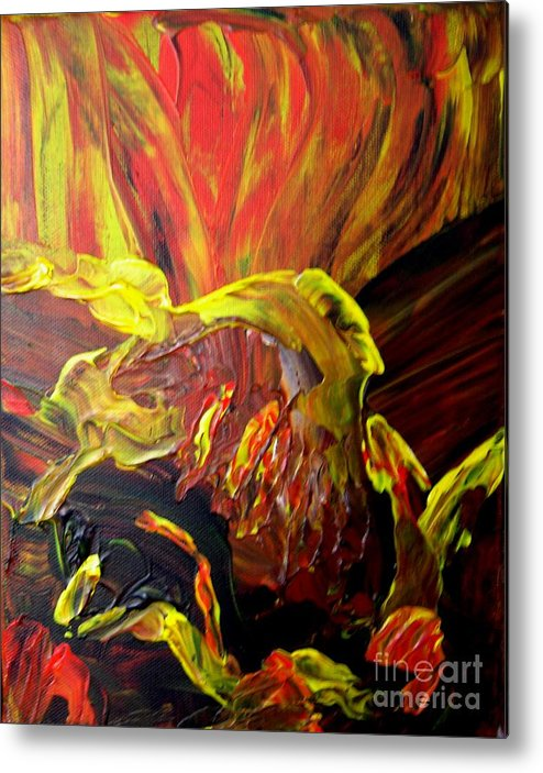 Bird Metal Print featuring the painting Come To Me by Karen L Christophersen