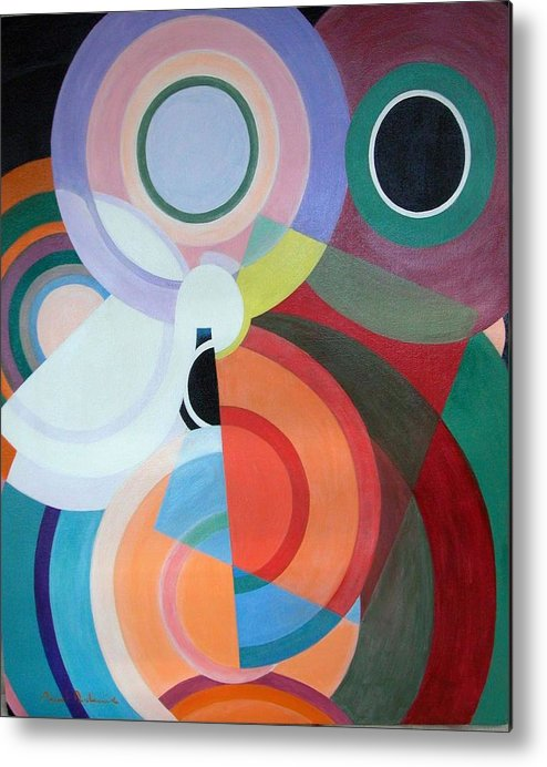 Abstract Metal Print featuring the painting Complement by Muriel Dolemieux