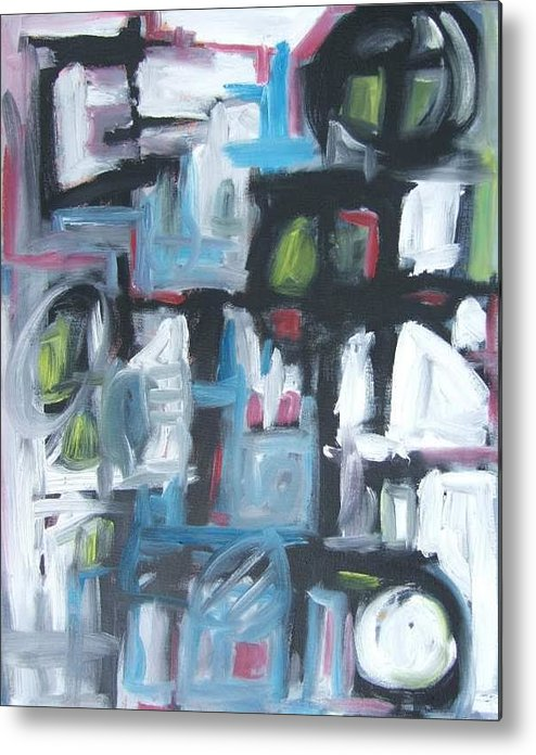 Abstract Metal Print featuring the painting Composition No. 3 by Michael Henderson