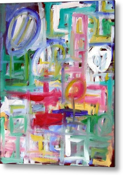 Abstract Metal Print featuring the painting Composition No. 5 by Michael Henderson