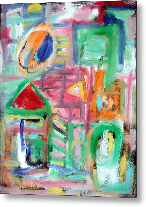 Abstract Metal Print featuring the painting Composition No. 6 by Michael Henderson