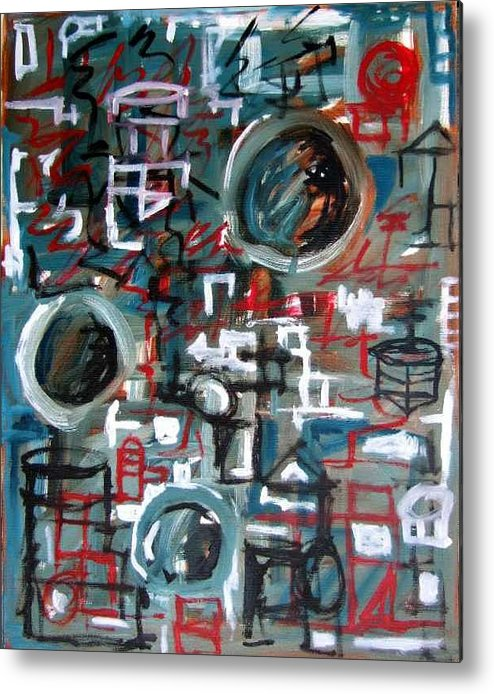 Abstract Metal Print featuring the painting Composition No 9 by Michael Henderson