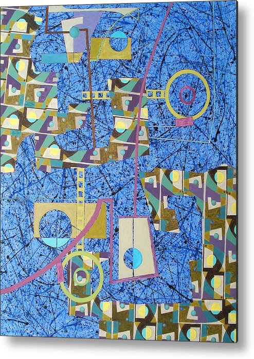 Metal Print featuring the painting Composition Viii 07 by Maria Parmo