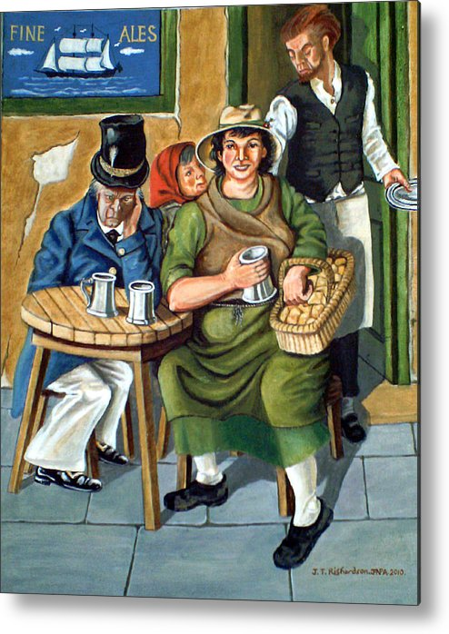 Drinking Ale Metal Print featuring the painting Cushie Butterfield by James Richardson