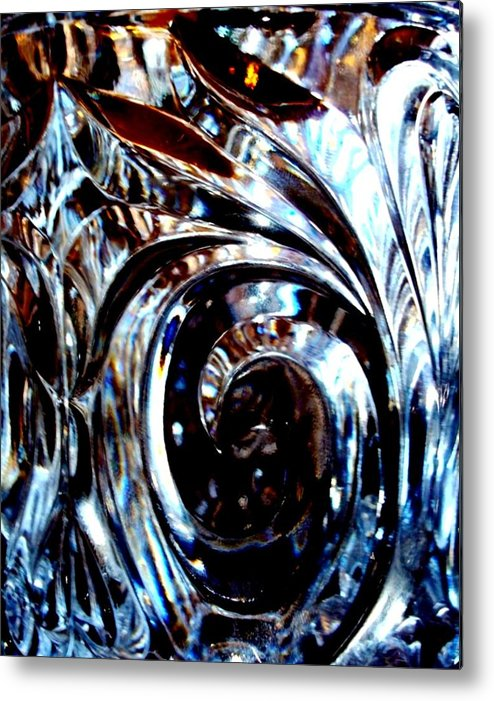 Photography Metal Print featuring the photograph Cut Glass by Laura Grisham
