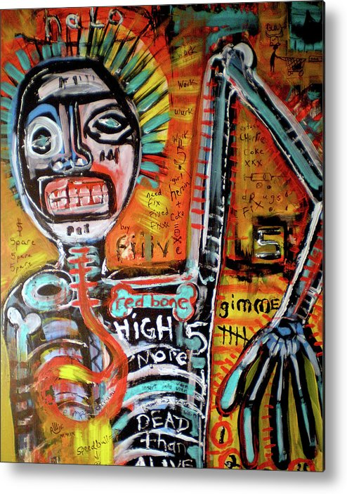 Rwjr Metal Print featuring the painting Death Of Basquiat by Robert Wolverton Jr