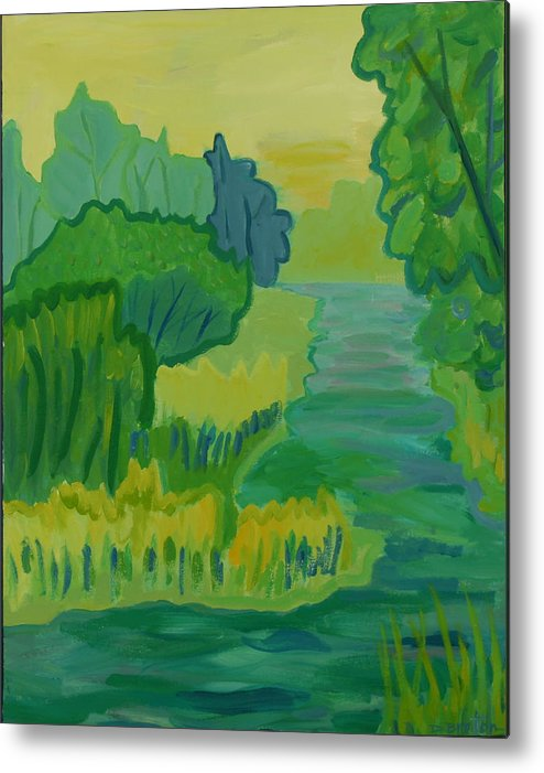 River Metal Print featuring the painting Ellis River by Debra Bretton Robinson