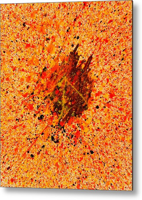 Abstract Metal Print featuring the painting Equation by Steven Dean