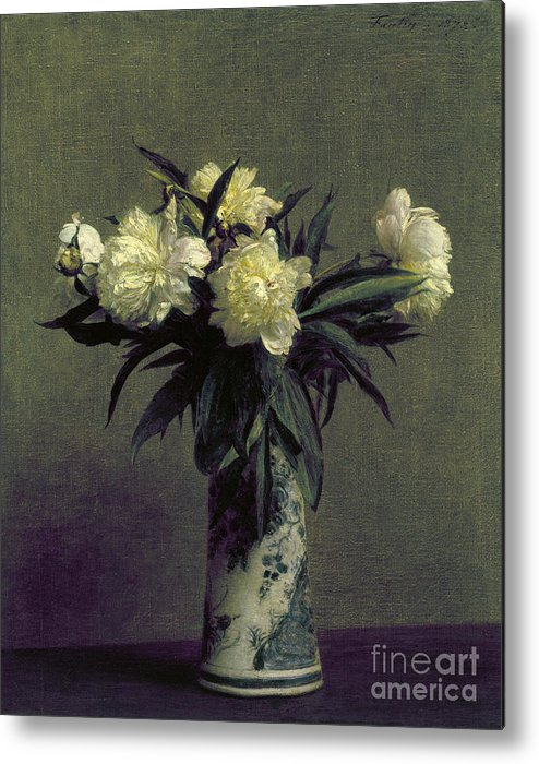 1872 Metal Print featuring the photograph Fantin-latour: Peonies, 1872 by Granger