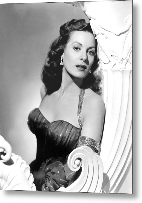 1950s Portraits Metal Print featuring the photograph Flame Of Araby, Maureen Ohara, 1951 by Everett
