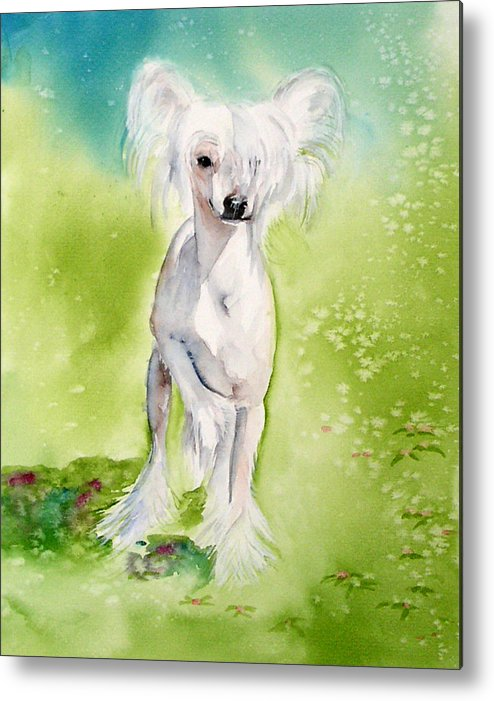 Canine Metal Print featuring the painting Flower by Gina Hall