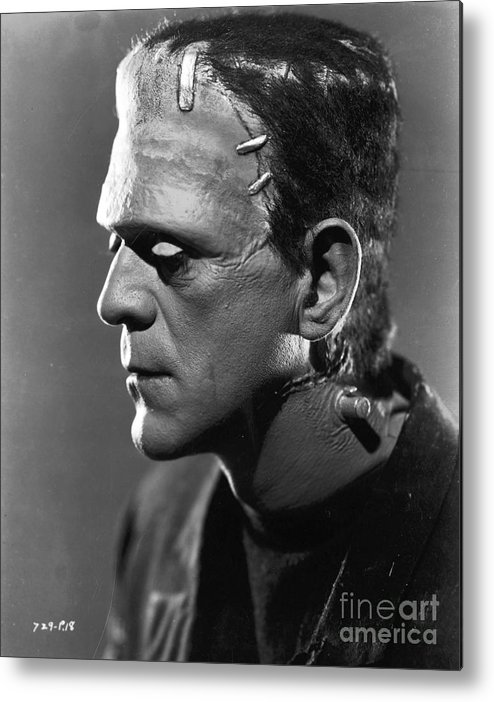 Frankenstein.monster Metal Print featuring the photograph Frankenstein by R Muirhead Art