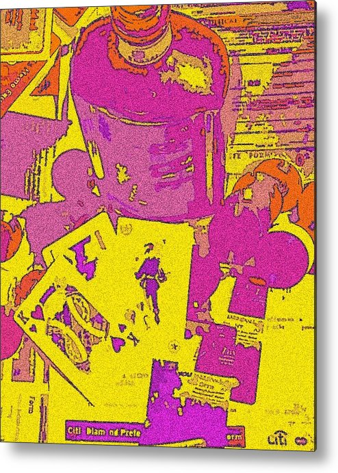 Credit Metal Print featuring the mixed media Gambling With Credit by Jennifer Ott