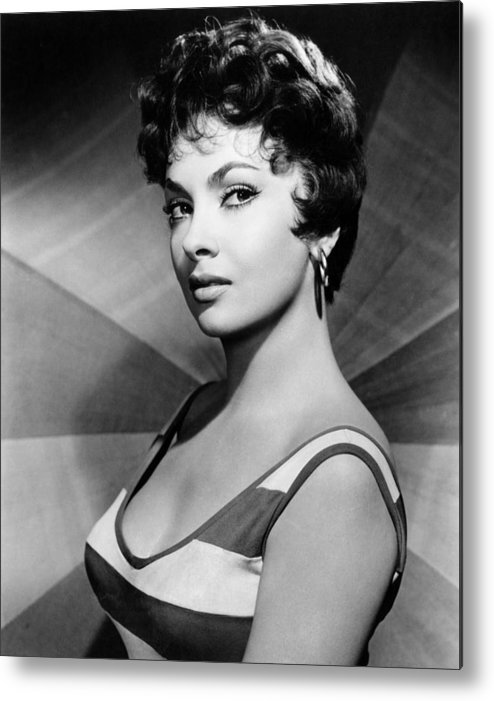 1950s Portraits Metal Print featuring the photograph Gina Lollobrigida, Ca. Late 1950s by Everett
