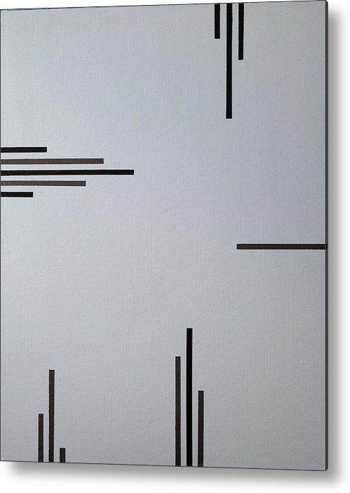 Black Metal Print featuring the painting Grey Space by Anders Hingel