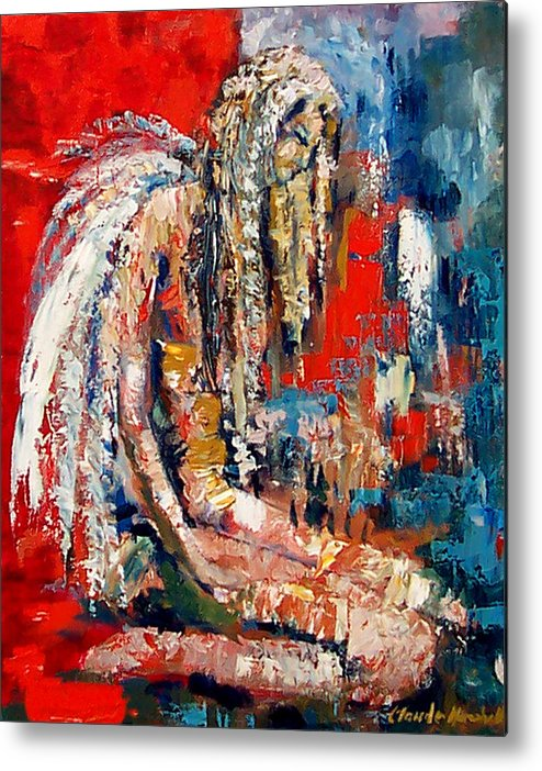 Art Metal Print featuring the painting Guardian Angel by Claude Marshall