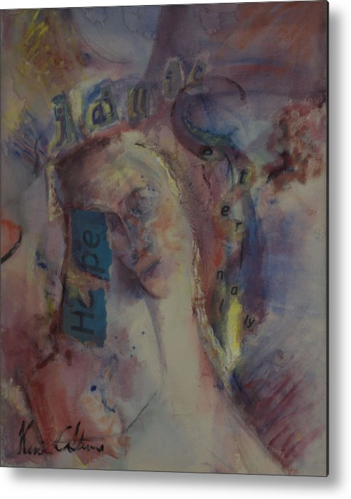 Abstract Metal Print featuring the painting Hope Springs Eternaly by Kevin Stevens