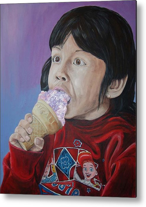 Kevin Callahan Metal Print featuring the painting Ice Cream by Kevin Callahan