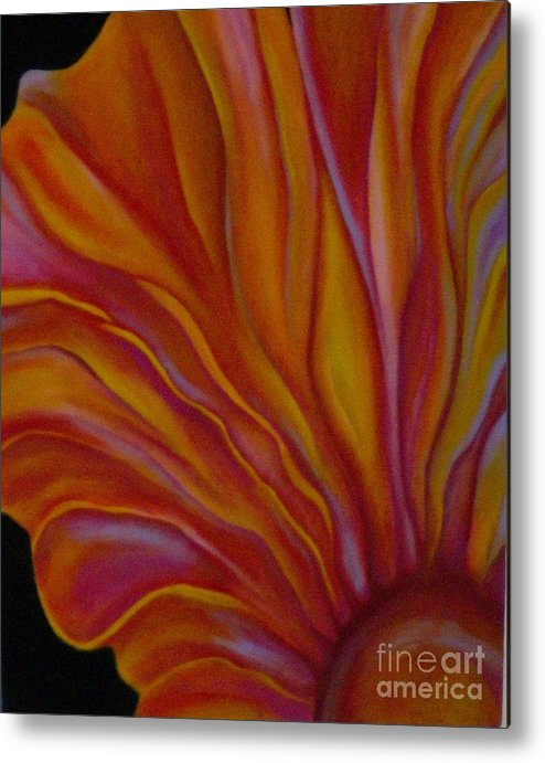Floral Metal Print featuring the painting Internal Floral by Sidra Myers