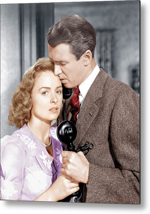 1940s Movies Metal Print featuring the photograph Its A Wonderful Life, From Left Donna by Everett