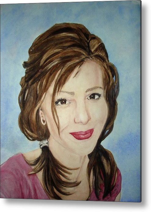 Artist Metal Print featuring the painting Kerra Lindsey Self Portrait by Kerra Lindsey