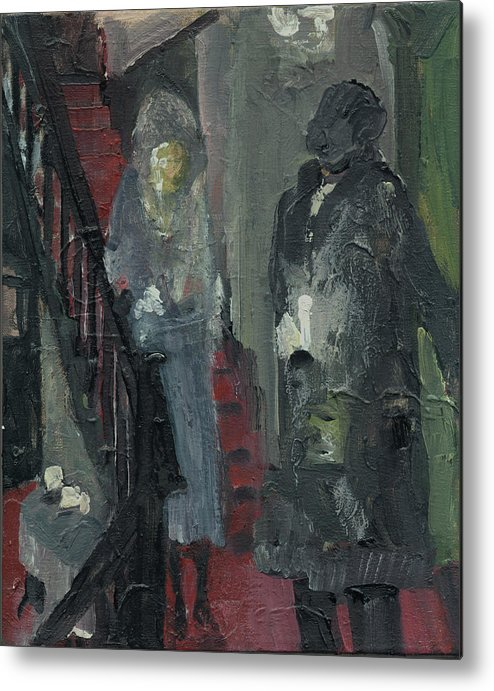 Figure Metal Print featuring the painting Laboheme Act 1 Stairway by Bill Collins