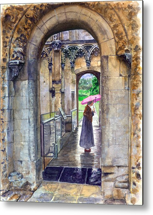 Glastonbury Metal Print featuring the painting Lady Chapel by John D Benson