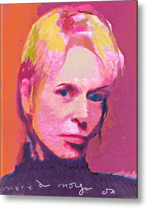 Portrait Metal Print featuring the painting Lauri by Noredin Morgan