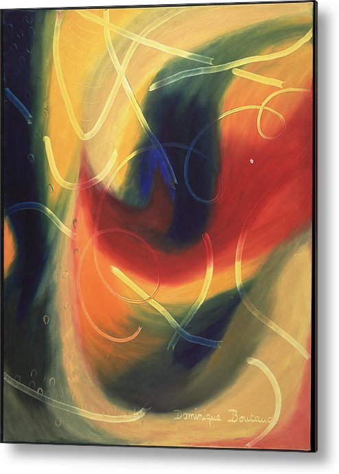 Abstract Metal Print featuring the painting Le Livre D by Dominique Boutaud