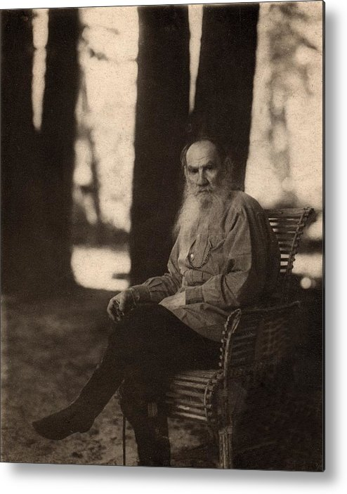 Historical Metal Print featuring the photograph Leo Tolstoy 1828-1910 Russian Novelist by Everett