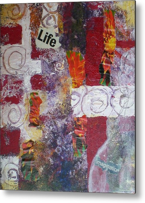 Collage Metal Print featuring the mixed media Life Cycle by Aleksandra Buha