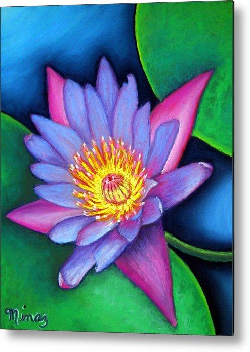 Flower Metal Print featuring the painting Lotus Divine by Minaz Jantz