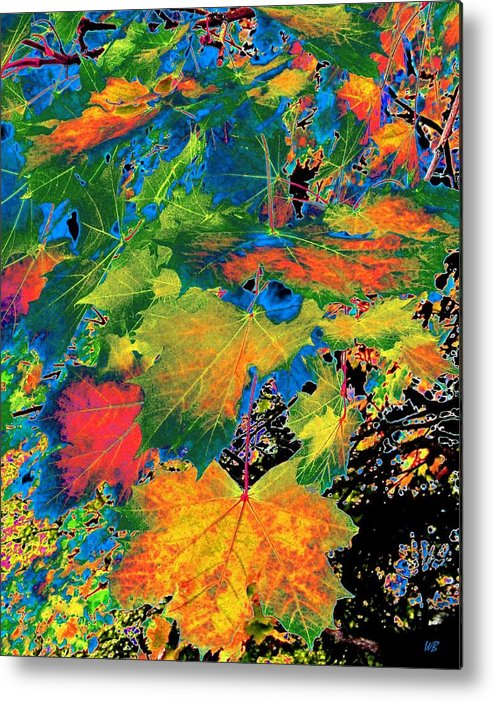 Photo Design Metal Print featuring the digital art Maple Mania 3 by Will Borden