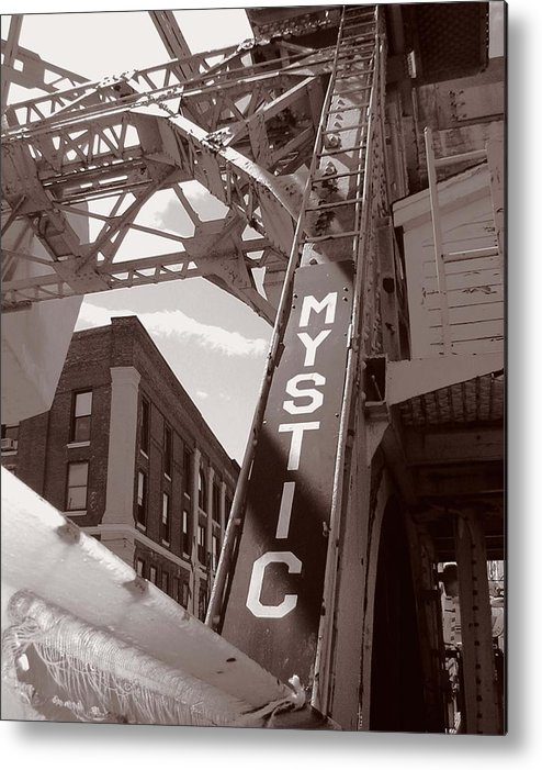 Mystic Metal Print featuring the photograph Mystic Drawbridge by Heather Weikel