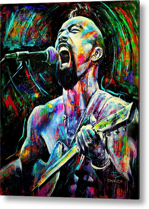 Robyn Chance Metal Print featuring the painting Nahko by Robyn Chance