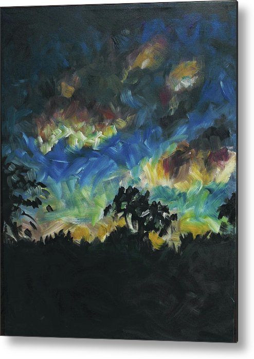Dusk Metal Print featuring the painting Now Dusk by Susan Moore