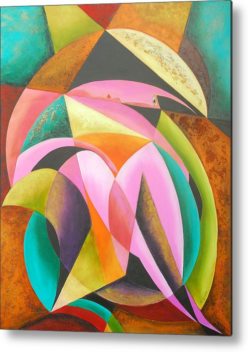 Abstract Expressionism Metal Print featuring the painting Odyssey Of Colors by Marta Giraldo
