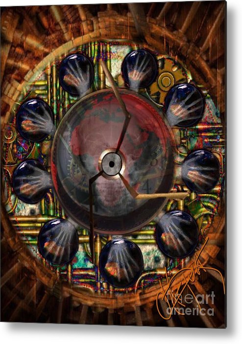 Digital Abstract Metal Print featuring the photograph Passage Of Time Series by Artepunk Art