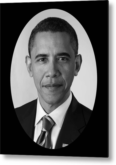 Obama Metal Print featuring the photograph President Barack Obama by War Is Hell Store