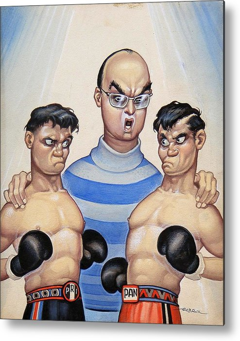 Magazine Cover Metal Print featuring the painting Pri Vs Pan by Ernesto Garcia Cabral