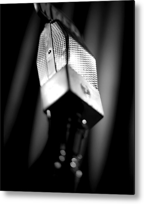Mike Metal Print featuring the photograph Radio Mike by Robert Ponzoni