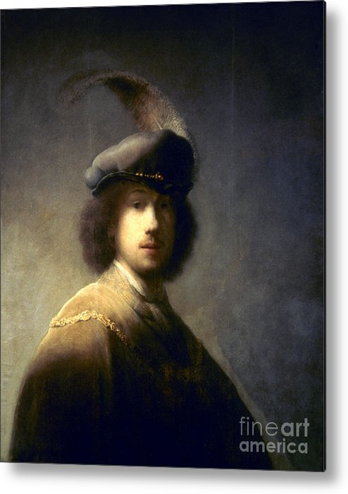 1629 Metal Print featuring the photograph Rembrandt Van Rijn by Granger