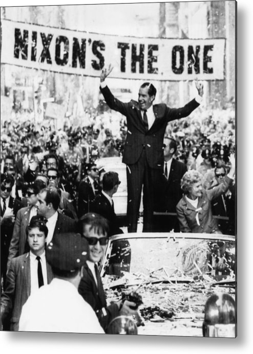 1960s Metal Print featuring the photograph Richard Nixon. Us Presidential by Everett